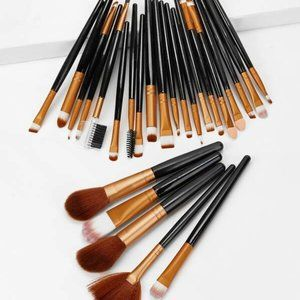 25 piece Two Tone Makeup Brushes